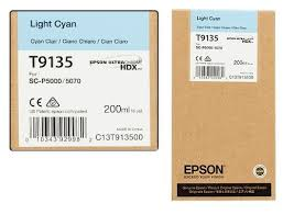 <b>Epson T9135</b> Ink Cartridge, <b>Light</b> Cyan 200ml, Rs.4250