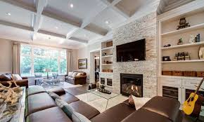 set up hearth leather chic living room sofa wall chic living room leather