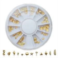 Popular New <b>Shell Sea</b> Style Decoration for Nails Studs <b>Gold</b> Silver ...