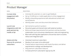 product goal examples goals for product development screen shot 2015 08 04 at 3 07 26 pm product manager goal examples