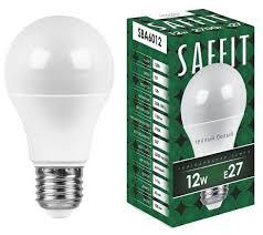 <b>Лампа</b> светодиодная <b>Saffit</b> SBA6012 55007, <b>E27</b>, <b>A60</b>, 12Вт ...