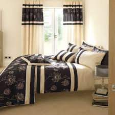 handsome simple interior decorating modern bedroom furniture set ideas featuring charming grey and black flourish pattern bedding for black furniture