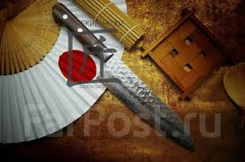 Японский <b>кухонный нож Sakai</b> Takayuki Damascus Santoku 180 ...