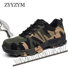 Perspective EVA Ankle <b>ZYYZYM Men</b> Work Safety Boots Plus Size ...