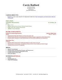 high school student resume sample 6 resume format for high school student