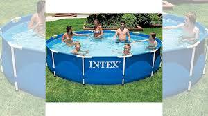 Бассейн каркасный <b>Intex Metal Frame 366 х 76</b> синий купить в ...