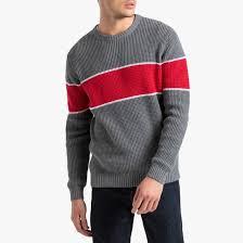<b>Пуловер</b> трехцветный с <b>круглым</b> вырезом из тонкого трикотажа ...
