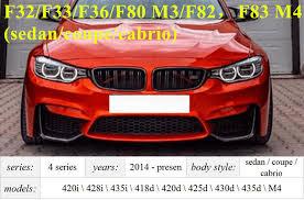<b>4</b> Series F32 F33 Front ABS Grill <b>for</b> BMW <b>F36</b> F80 M3 F82 F83 M4 2 ...