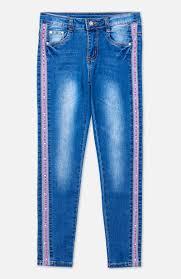 <b>Брюки</b> текстильные джинсовые для девочек <b>PlayToday</b> 394047