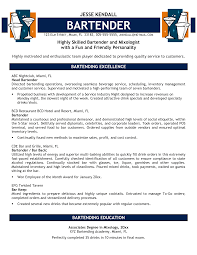 cover letter how to write a bartender resume how to write a resume cover letter bartender resume skills template effective sample bartender for objective seek the position of bartenderhow