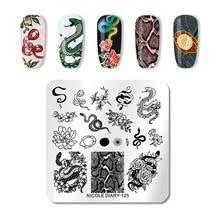 <b>Nicole Diary</b>, <b>Пластина для</b> стемпинга №ND-125 - Змея (6х6 см ...
