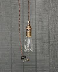 industrial bare bulb pendant light pull chain socket lighting edison bulb light fixture bare bulb lighting