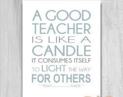 Teacher Gift 5x7 8x10 Quote Teacher Unique by PrintablePrints via Relatably.com