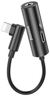 Купить переходник <b>Baseus L42 Lightning</b> (M) to <b>Lightning</b> (F)/3.5 ...
