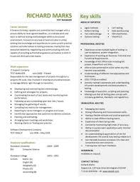 cv examples  templates  creative   able  fully    a concise and attention grabbing test manager cv template