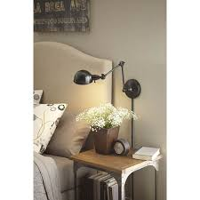 allen roth h bronze swing arm wall mounted lamp with metal shade at lowes create the perfect reading spot with this wall lamp from the embelton bronze sweep wall swing