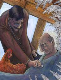 world literature english mrs pierce drawing of a towns person ing the angel in the chickencoop very old man