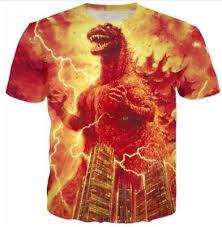 Годзилла <b>3D</b> принтом женские/<b>мужские</b> модные <b>футболки</b> | eBay