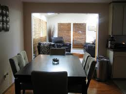 luxurious black stained wooden dining appealing small space living