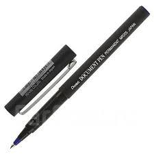<b>Ручка роллер Pentel</b> 0,5мм <b>Document Pen</b>, корпус серый, синий ...