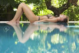 Image result for lying by a pool