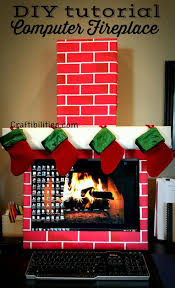 cubicle office decorating ideas. craftibilities holiday office idea fireplace computer cubicle fun diy christmas decorations decorating ideas