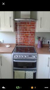 tower kitchen glass splashback brick glass cooker splashback glass splashbacks are the perfect soluti