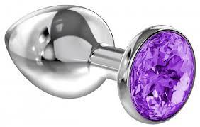 <b>Анальная пробка Diamond Purple</b> Sparkle Large, фиолетовый ...