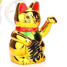 SLB Works 1Pc Gold Maneki Neko <b>Cute Lucky Cat</b> Electric Art <b>Home</b> ...