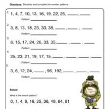 Math WorksheetsPatterns Worksheet 1