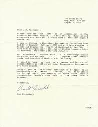 ron s blog letter of application to astronaut program