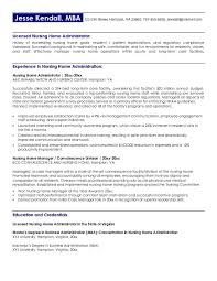free nursing home administrator resume examplethis   sample was provided by aspirationsresume com