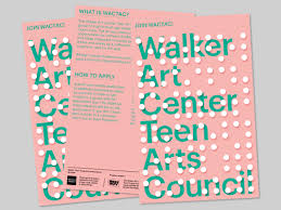 frank j mondrag oacute n walker art center teen council postcard designed to promote the watac deparment
