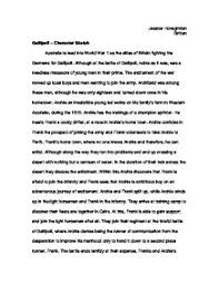 gallipoli   character sketch   gcse english   marked by teacherscom page  zoom in