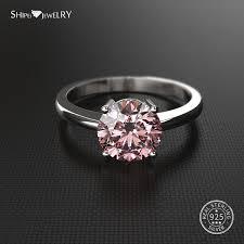 2019 <b>Shipei 100</b>% <b>925 Sterling</b> Silver Ring Fine Jewelry 2ct White ...