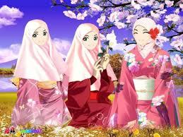 Hasil gambar untuk gambar muslimah kartun