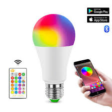 <b>RGB RGBW E27</b> LED Bulb Light Color Changing Dimmable ...