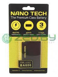 <b>Аккумулятор Nano Tech</b> (аналог BA-600) <b>1290mAh</b> для Sony ...