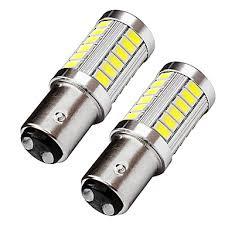 <b>2PCS</b> Top Lens Design BAY15D 1157 <b>LED</b> Brake Turn Signal Light ...