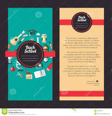 vector school flat design flyer template stock vector image vector school flat design flyer templates royalty stock images