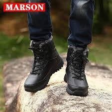 <b>MARSON Men's Winter</b> Snow Boots Keep Warm Mid Calf Boot ...