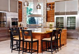 impressive kitchen design ideas with island with granite countertop and wooden dining chairs also hanging lamp amazing latest trends furniture