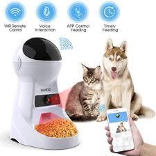 Iseebiz Automatic Cat Feeder Pet Feeder 3L Food ... - Amazon.com