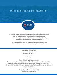 scholarship junk car medics junk car medics scholarship