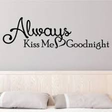 always kiss me goodnight wall decor 0025 wall decals wall stickers bedroom decor bedroom furniture sticker style