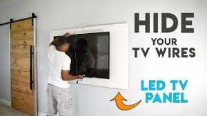 How to make a TV panel - <b>Wall mount</b> a TV and hide the wires ...