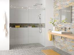 ideas shower systems pinterest: mwe shower system miami modern showers vancouver bradford hardware long ledge no step into shower bathroom ideas pinterest shelves