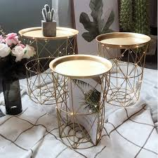 nordic style side table fashion popular design small coffee desk round snack table wood leg japoniseme living room furniture