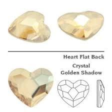 Swarovski 2808 Heart 3.6mm <b>Crystal Golden</b> Shadow (<b>10 pcs</b>)