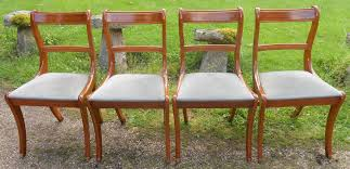 Yew Dining Room Furniture Sold Set Of Four Regency Style Yew Dining Chairs